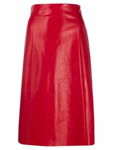 Drome high waisted A-Line skirt - Red