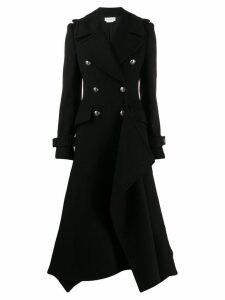 Alexander McQueen double breasted asymmetric coat - Black