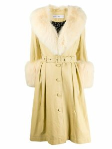 Saks Potts Foxy single-breasted coat - Yellow