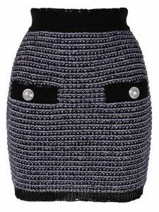 Balmain tweed mini skirt - Purple