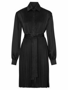 Burberry pleated shirt dress - Black