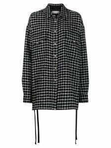 Faith Connexion houndstooth coat - Black