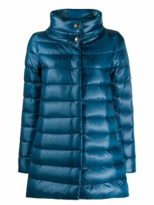 Herno high collar padded coat - Blue