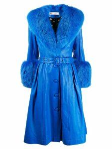 Saks Potts Foxy single-breasted coat - Blue