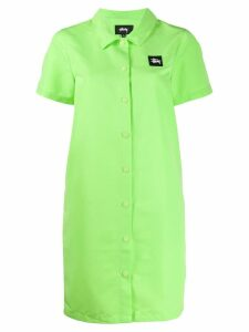 Stussy Nomi House shirt dress - Green