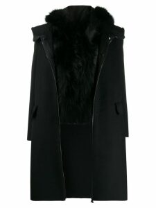 S.W.O.R.D 6.6.44 fur trim coat - Black