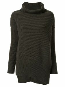 Agnona chunky-knit turtleneck jumper - Green