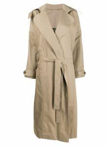 Preen By Thornton Bregazzi Savannah trench coat - NEUTRALS