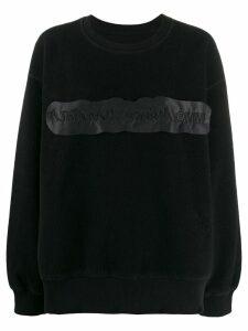Mm6 Maison Margiela logo jumper - Black