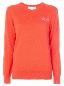 Derek Lam 10 Crosby eyes intarsia jumper - Orange