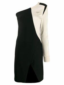Off-White logo off the shoulder dress - Black