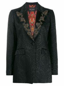 Etro brocade print embellished blazer - Black