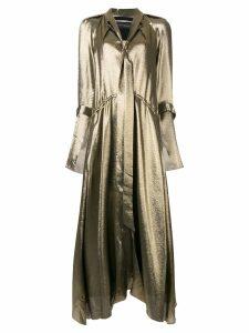 Roland Mouret Brandon Lame dress - Green