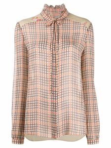 Preen Line Liana checked blouse - Neutrals