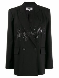 Mm6 Maison Margiela glitter detail blazer - Black