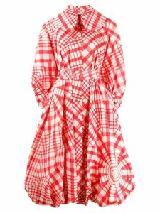 Simone Rocha printed puffball coat - Red
