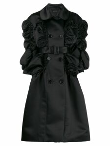 Simone Rocha ruched details coat - Black