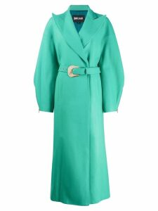 Just Cavalli oversized belted midi coat - Green