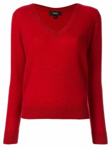 Theory V-neck jumper - Red