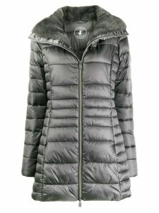 Save The Duck faux-fur lined padded coat - Grey