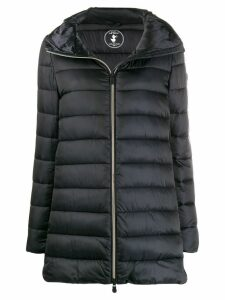 Save The Duck zip-front padded coat - Black