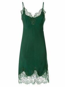 Gold Hawk lace detail dress - Green