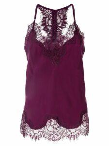 Gold Hawk lace detail top - Purple