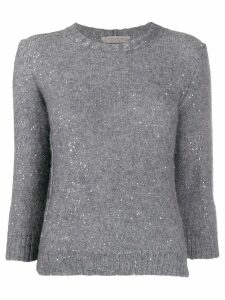 D.Exterior sequin knit jumper - Grey