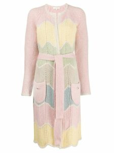 Love Shack Fancy Dallas Duster cardi-coat - PINK