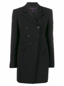 Ralph Lauren Collection long double-breasted blazer - Black