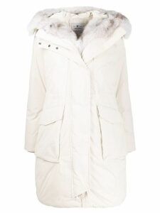 Woolrich hooded padded parka - White