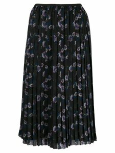 Kenzo floral midi pleated skirt - Black