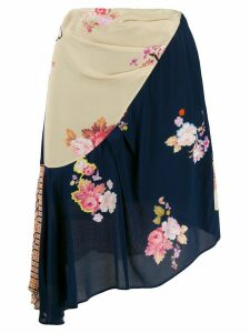 Preen Line Izzy asymmetric skirt - Blue
