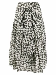 Sara Lanzi front knotted skirt - Grey
