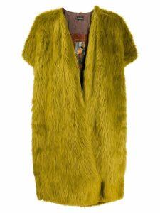 Barbara Bologna short sleeved faux fur coat - Green