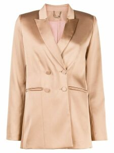 Styland peaked lapel double-breasted blazer - Neutrals