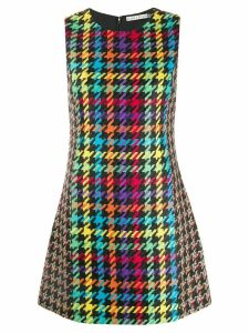 Alice+Olivia houndstooth shift dress - Black