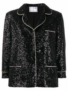 In The Mood For Love Sofia sequin blazer - Black