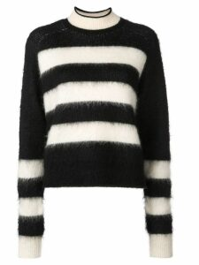 Proenza Schouler PSWL Brushed Stripe Wool Mohair Cropped Sweater -