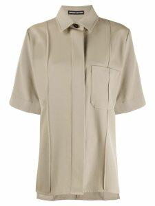 Kwaidan Editions oversized short sleeved shirt - Neutrals