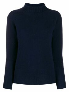 Zanone fitted will-neck jumper - Blue