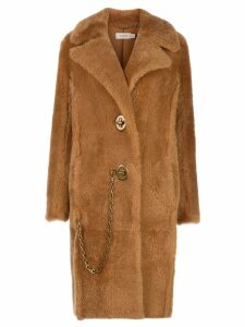 Coach long shearling coat - Brown