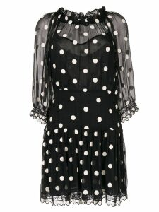 Rebecca Taylor Dot Embroidered dress - Black