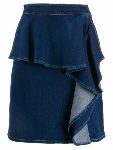 See By Chloé ruffle denim skirt - Blue