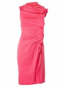 Paule Ka ruffle sleeveless fitted dress - Pink