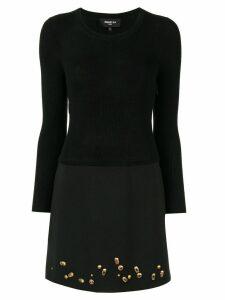 Paule Ka gemstone-embellished knit dress - Black