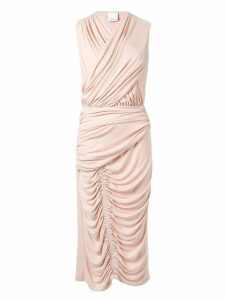 Acler Palmer draped midi dress - Pink