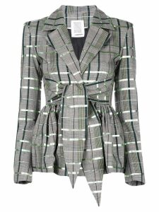 Rosie Assoulin check print blazer - Grey