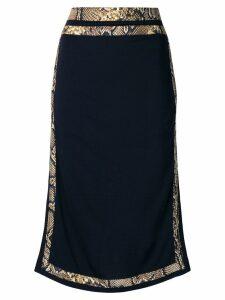 Victoria Beckham contrast trim skirt - Blue