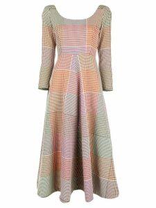 Rosie Assoulin checked midi dress - Multicolour